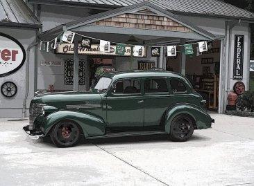 Rubin's car at Tom and Tressa's