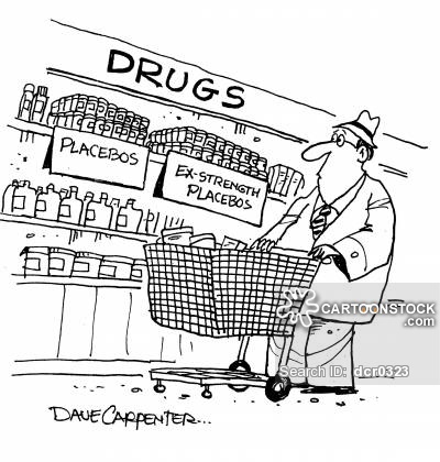 Drugs - 'Placebos' and 'Ex-strength placebos'.